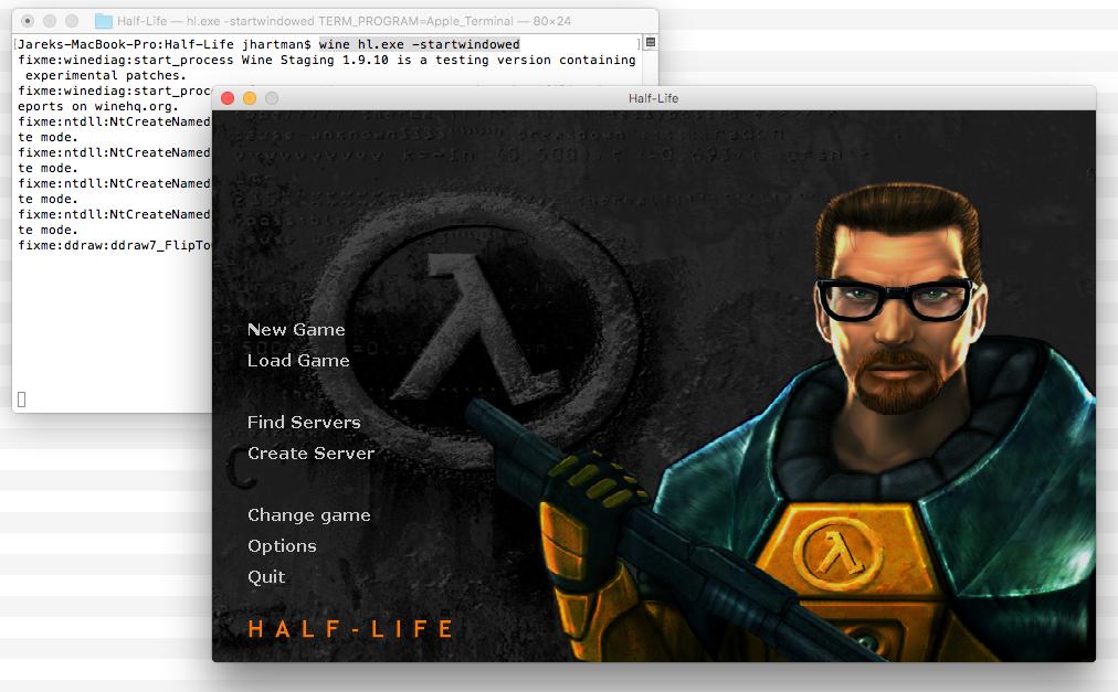 Half-Life 1 on Wine